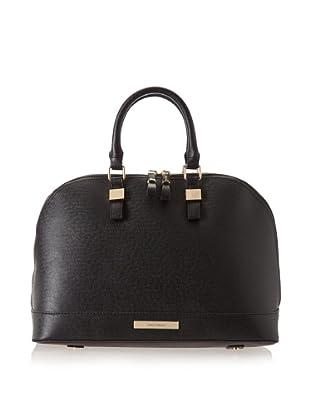 Ivanka Trump Women's Kelly Saffiano Dome Satchel Top Handle Bag (Black)