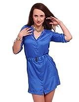 Street 9 Women's Dress (DD1011_Blue_Large)