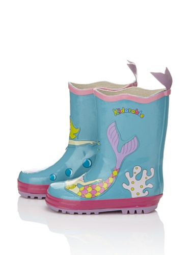 Kidorable Mermaid Rain Boot (Toddler/Little Kid) (Aqua)