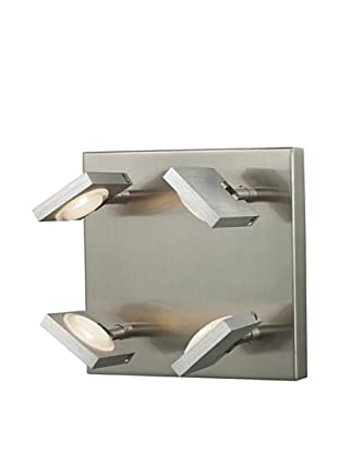 Artistic Lighting Reilly Collection 4-Light LED Sconce, Brushed Nickel/Aluminum