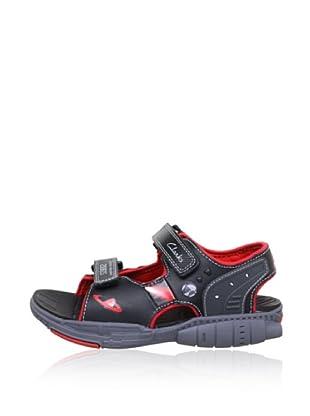 Clarks Jungen Sandale Orbiter (Schwarz)