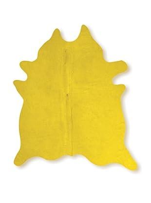 Natural Brand Geneva Cowhide Rug, Yellow, 7' x 5' 5