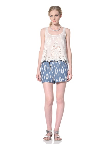 Dolce Vita Women's Agustina Short with Belt (Blue/White)