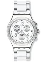 Swatch Irony Analog White Dial  Unisex Watch - YCS511G
