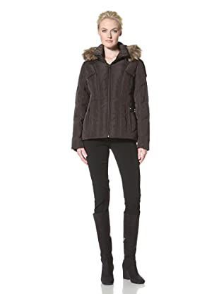 Calvin Klein Women's Down Jacket with Hood (Espresso)