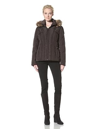 Calvin Klein Women's Down Jacket with Hood (Espresso)