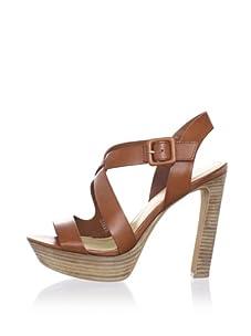 Luxury Rebel Women's Chantal Ankle-Strap Sandal (Cuoio)