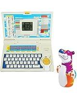 Children Combo English Learner Laptop And Intex Hit Me Bog Bag