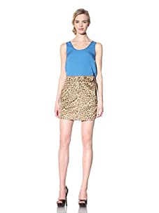 Vivienne Westwood Red Label Women's Twisted Animal Print Skirt (Tan)