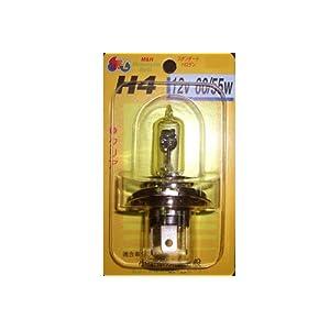 【クリックで詳細表示】M&H:ヘッドライト用バルブ / STDハロゲン / クリア / H4 / 12v 60/55w