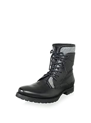 JD Fisk Men's Lukas Lace-Up Boot (Black Leather)
