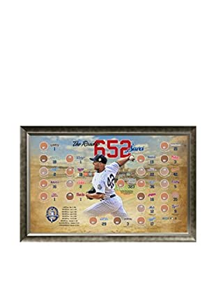 Steiner Sports Memorabilia Mariano Rivera Road to 652 Saves MLB Parks Map Framed Collage with Game Dirt