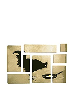 Banksy Chicken And Egg 8-Piece Giclée On Canvas