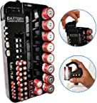 Battery Tester Caddy Organizer holds up to 70 batteries wall mount or counter top
