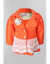 Nauti Nati Girls Orange Fleece Jacket Naw13-217
