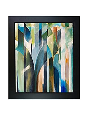 Clive Watts Blue Curve Framed Print On Canvas, Multi, 28.75