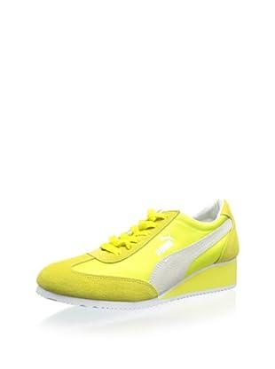 PUMA Women's Caroline Wedge Fashion Sneaker (Fluorescent Yellow)