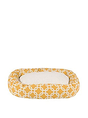 Majestic Pet Sherpa Bagel Bed (Yellow Links)