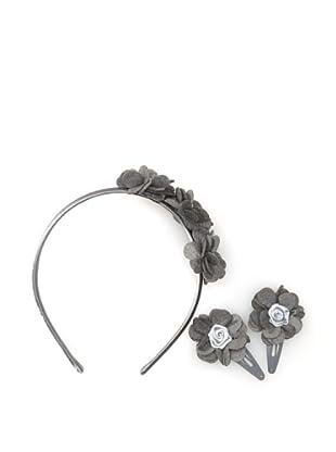 Liliella Gray Headband and Hairclip Set
