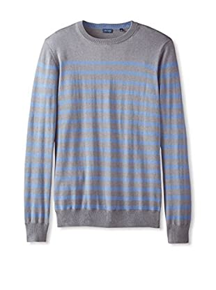 Thirty Five Kent Men's Silk/Cotton Nautical Stripe Crew Neck