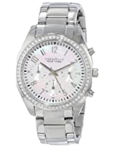 Caravelle by Bulova Crystal Analog Mother of Pearl Dial Women's Watch - 43L159