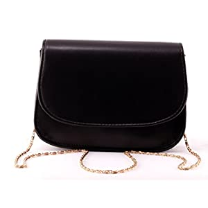 Toniq Classic Front Opening Black Sling Bag for Women