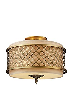Artistic Lighting Semi Flush, Brushed Antique Brass