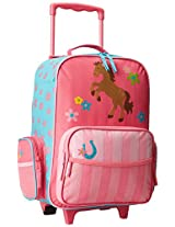 Stephen Joseph Little Girls'  Rolling Luggage, Girl Horse, One Size