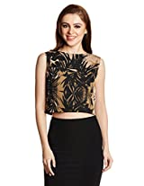 Miss Chase Women's Floral Print Crop Top