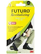 Futuro Revitalizing Men's Dress Socks, Black, Large, Moderate (15-20 mm/Hg)