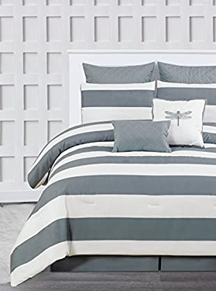 Duck River Textile Delia Stripe Printed 7-Piece Comforter Set