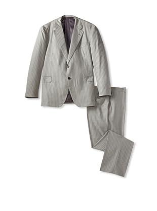 Oxxford Men's Pinstripe Coat (Grey)