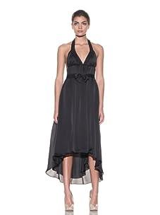 Kiki de Montparnasse Women's Silk Empire Halter Dress (Black)