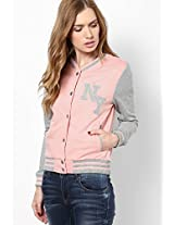 Pink Solid Sweatshirt