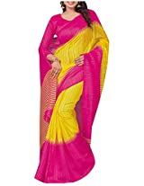 Siddharth Women's Art Silk Saree (Yellow)