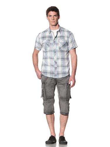 Rogue Men's Plaid Short Sleeve Shirt (Green)