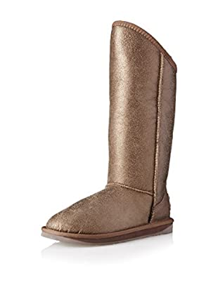 Australia Luxe Collective Womens Cosy Tall Vintage Metallic Boot (Bronze)