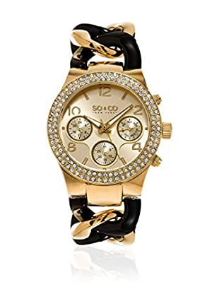 SO & CO New York Reloj de cuarzo  Negro / Dorado 38 mm