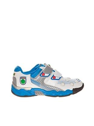 Footgol Sneaker doppelter Klettverschluss (Weiß/Blau)