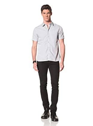 Edun Men's Short Sleeve Button-Front Shirt (Sky)