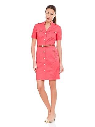 Cortefiel Vestido Camisero Básico (Rosa)