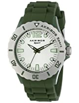 Akribos XXIV Women's AK536GN Essential Luminous Quartz Silicon Strap Watch