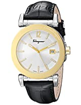 Salvatore Ferragamo Mens FP1860014 Salvatore Analog Display Quartz Black Watch