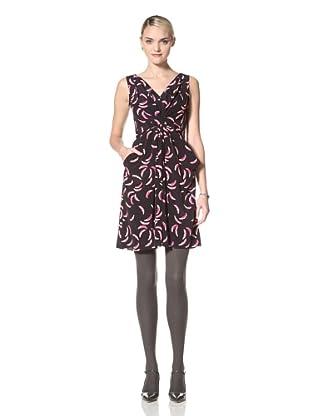 Yoana Baraschi Women's Little Feather Date Dress (Indigo/Pink)