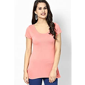 Pink Top With Asymtric Hem