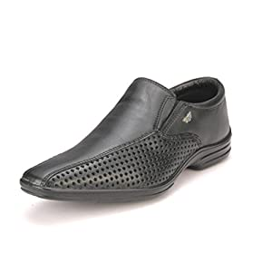Red Tape RTS5921 Men's Leather Casual Shoes - Black