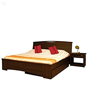 Style Spa Bed King with Honey Brown Finish - Estilo