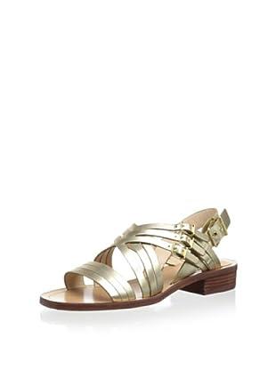 Pour La Victoire Women's Alfie Flat Sandal (Platino)