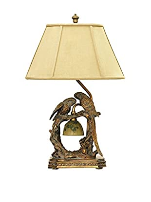 Artistic Lighting Twin Parrots Table Lamp, Atlanta Bronze