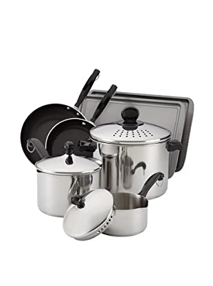 Farberware Classic Strain & Pour Stainless Steel 10-Piece Cookware Set